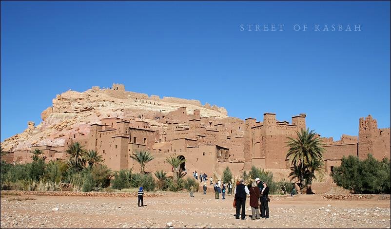 Ait Benhaddou / Street of Kasbah - Marokko