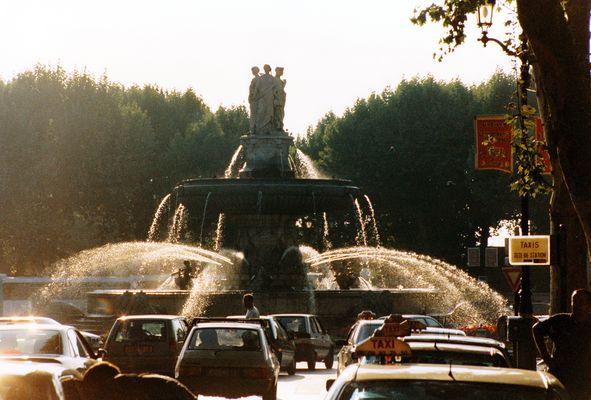 Aix-en-Provence, la Fontaine de la Rotonde