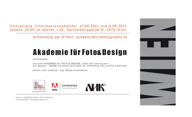 Akademie für Foto & Design Linz, Wien
