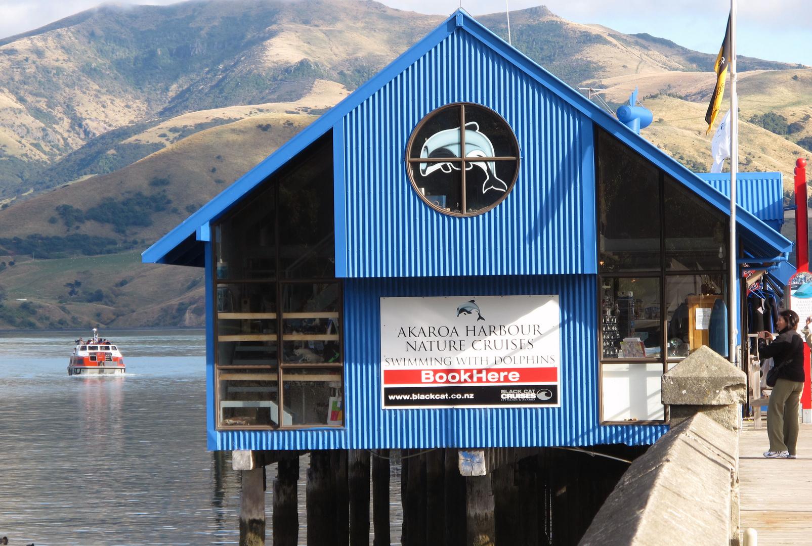 Akaroa auf der Südinsel Neuseelands.