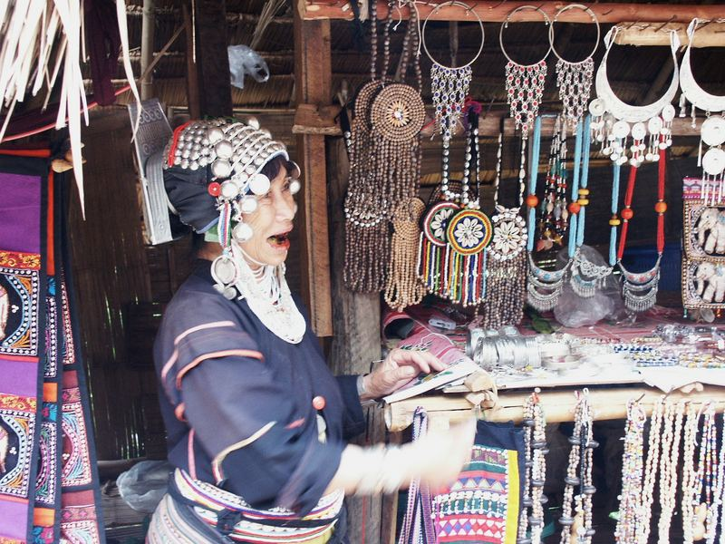 Akha Saleswoman