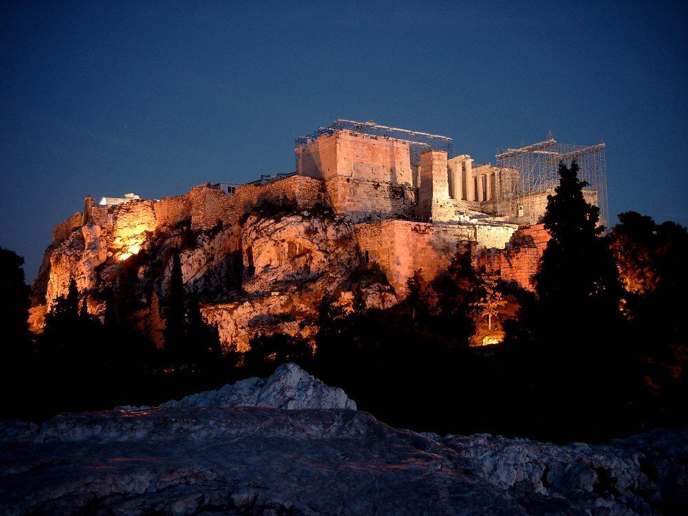 Akropolis - von einem Felse so gesehen -- AthenFotos
