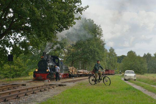 Aktion auf der Waldbahn