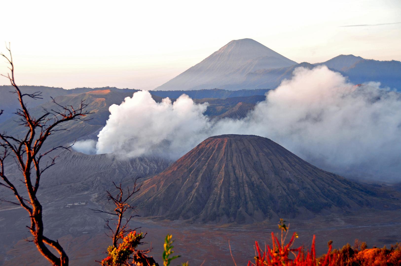 Aktiver Vulkan Mt. Bromo