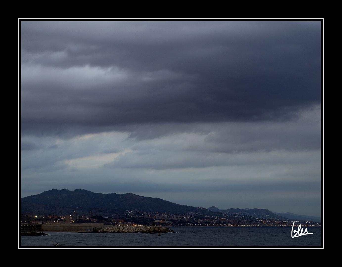 Al fondo Santa Coloma, Pineda y Mataró