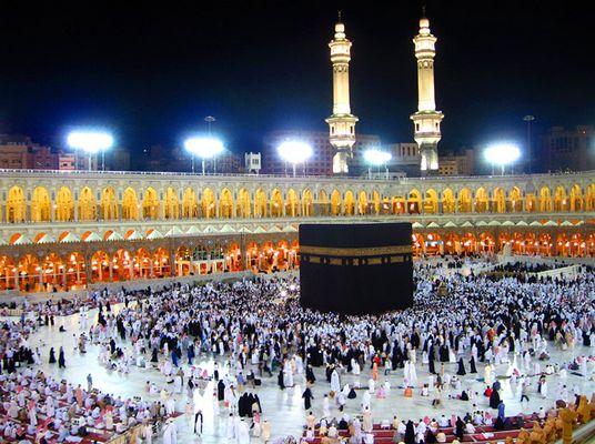 Al-Ka'bah Al-Musharrafah (nachts)