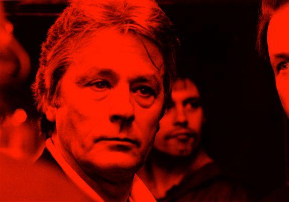 Alain Delon - men in red