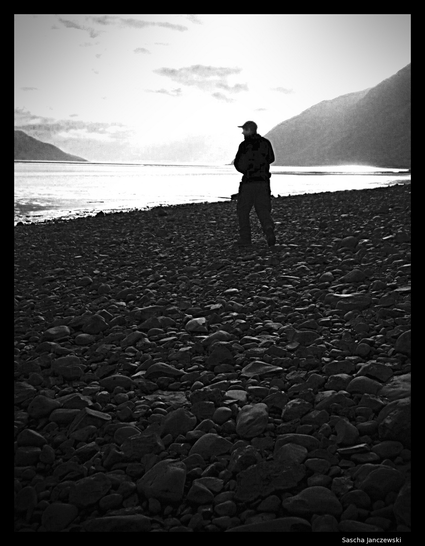Alaska, hart und Steinig.