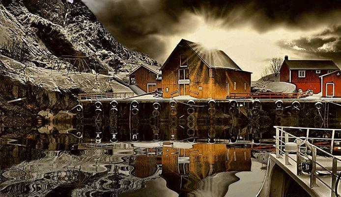 ... Alba a Nusfjord...