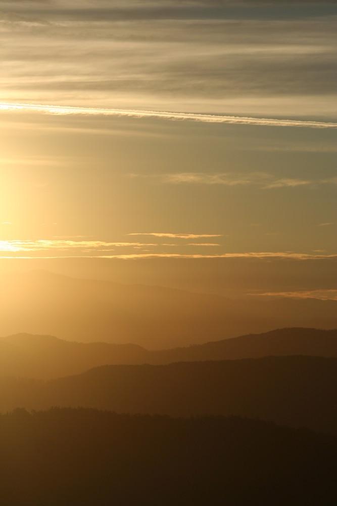 Alba nelle colline di Firenze