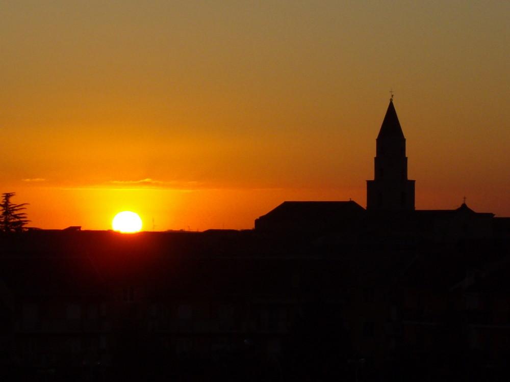 alba sul campanile