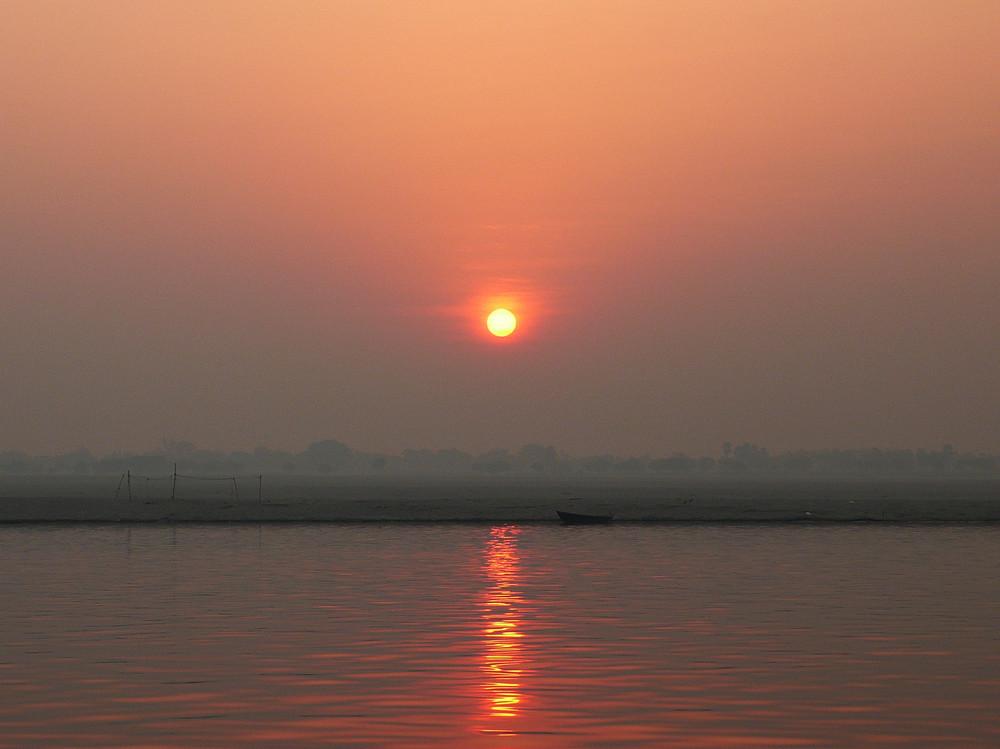 Alba sul Fiume Gange