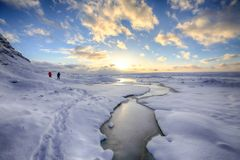 Alba sul ghiacciaio (1)