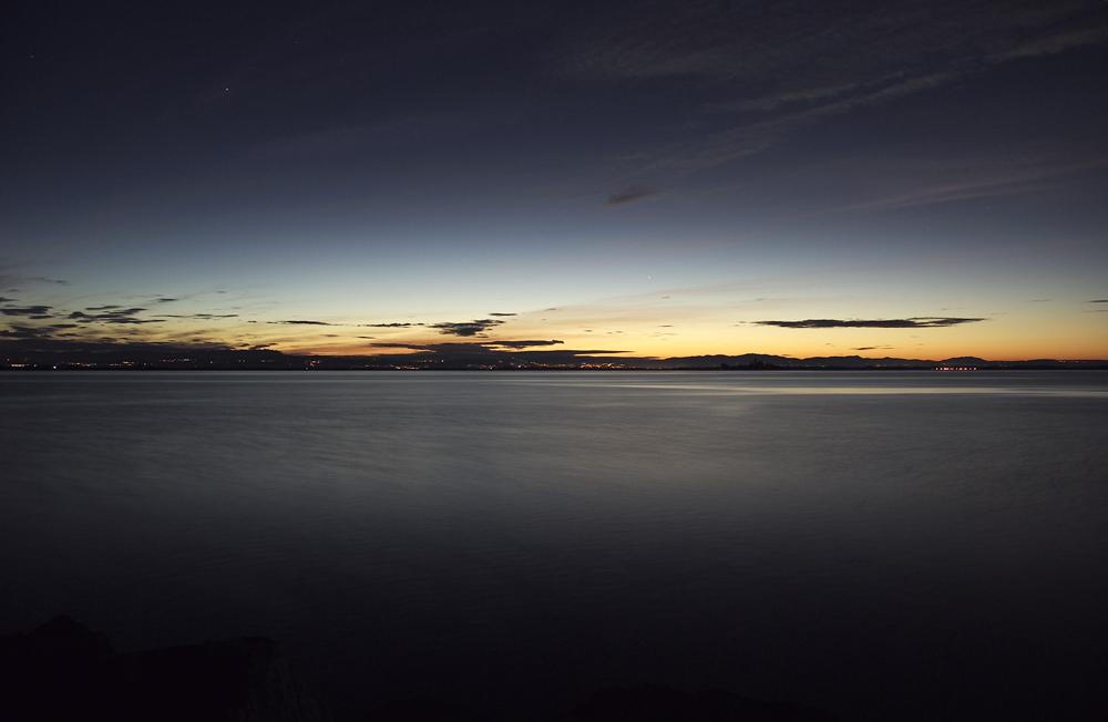 Alba sulla laguna di Grado