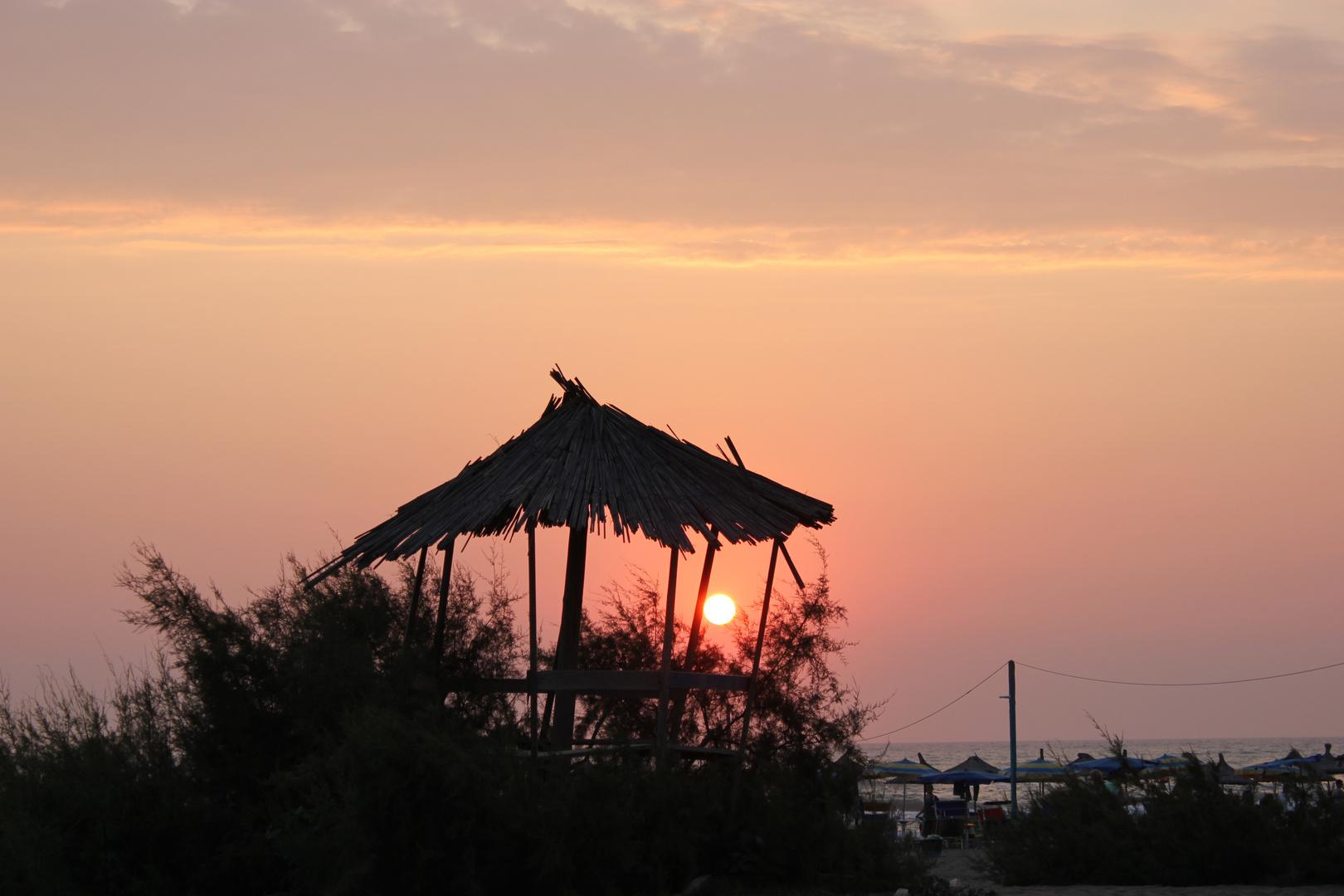 Albania Spille Kavaje Sunset