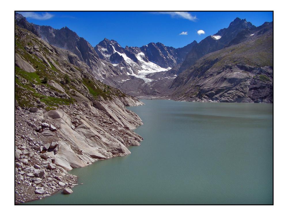 Albingnastausee und Gletscher