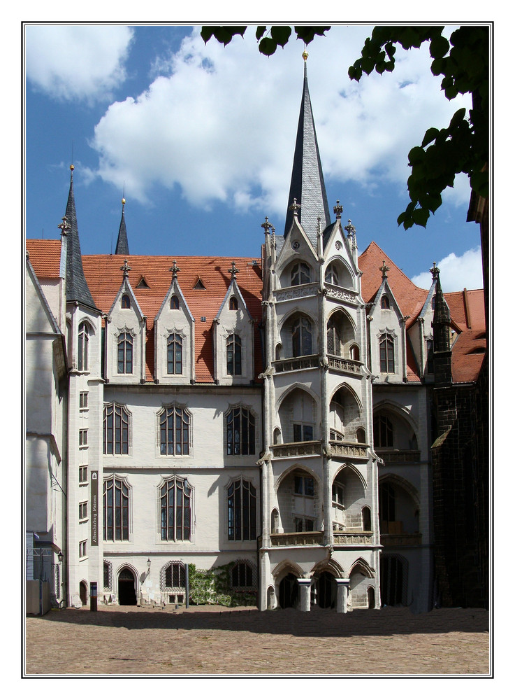 Albrechtsburg zu Meißen----------Hoffassade