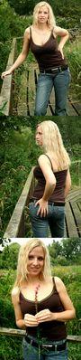 Alena auf dem Holzsteg (nicht Holzweg ;-)