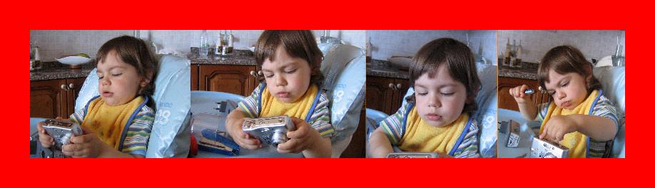alessio scopre la macchina fotografica ( esperimenti )