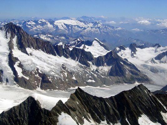 Aletch Gletscher - Luftbild