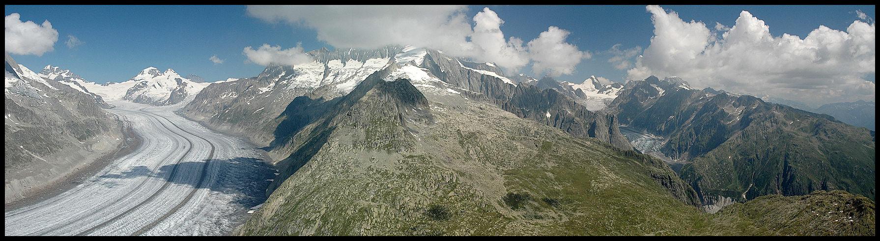 Aletsch und Fiescher Gletscher