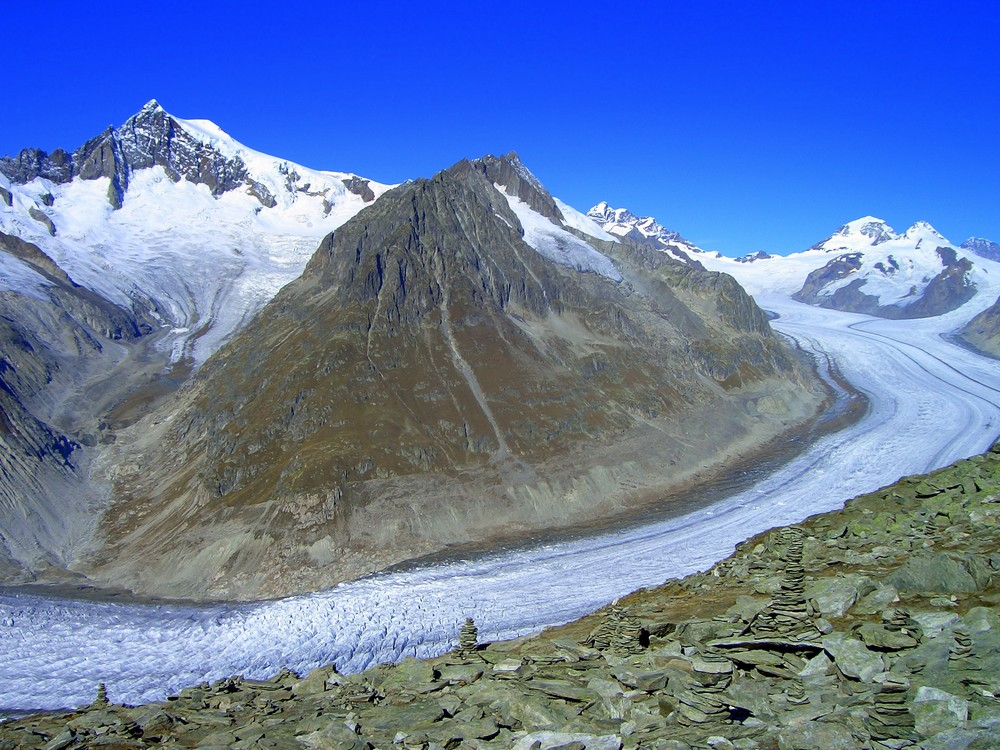 Aletschgletscher am 11.10.2007
