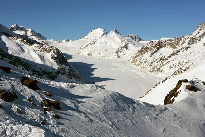 Aletschgletscher mit Eiger, Mönch, Jungfrau