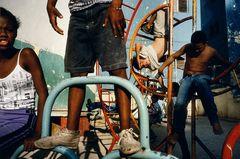 ©ALEX WEBB - -CUBA - 2000 - Havana - Children playing in a playground