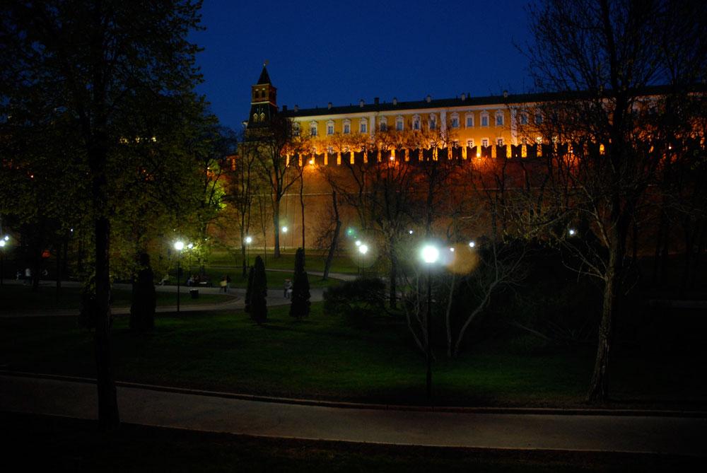 Alexander-Garten am Abend