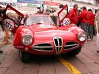 Alfa Romeo Disco Volante an der Mille Miglia