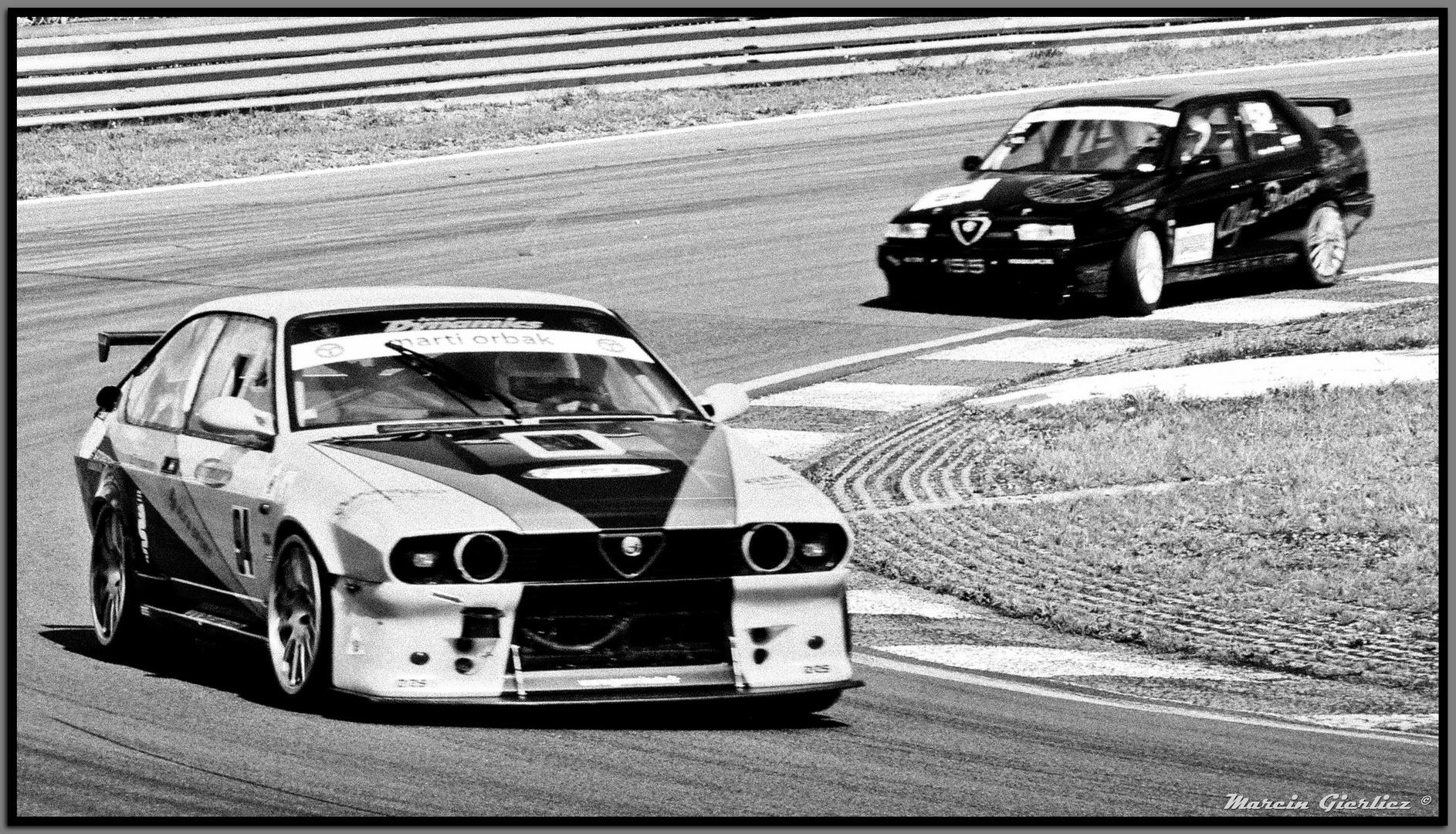 Alfetta GTV6 on track