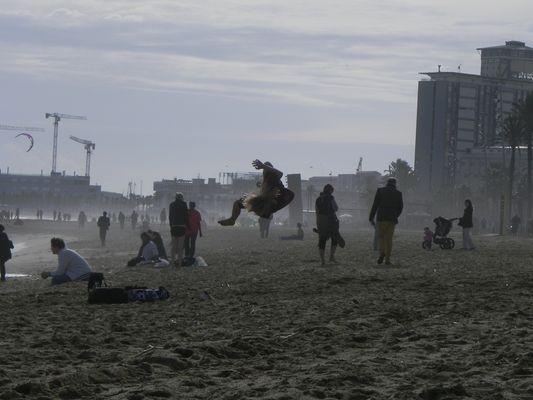 algo raro en la playa