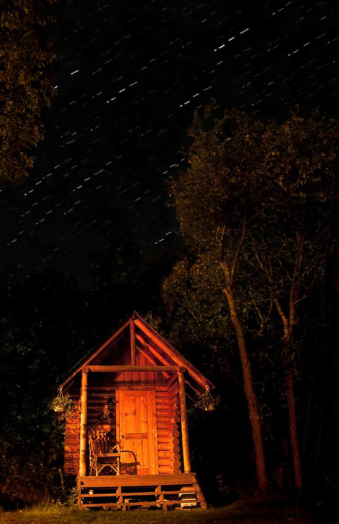Algonquin Park at night