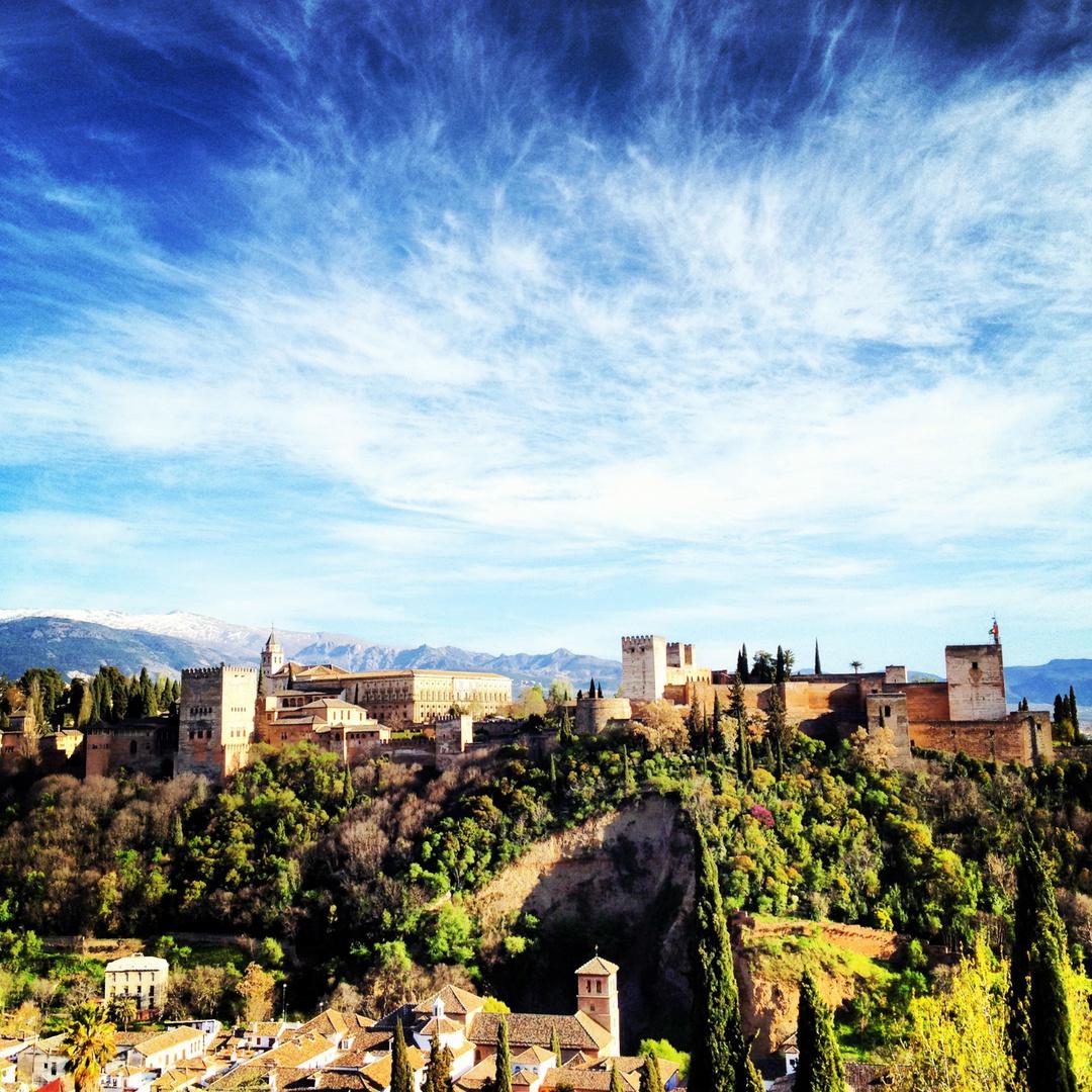 Alhambra aus dem Albaicín