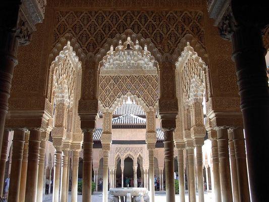 Alhambra-Blick in den Löwenhof