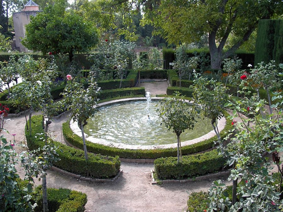 Alhambra-Springbrunnen im Garten Generalife