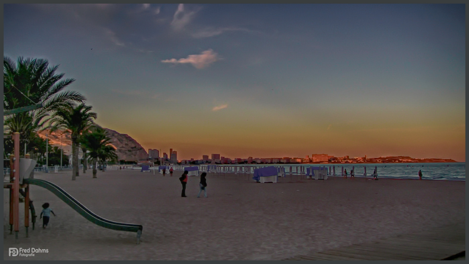 Alicante, Strandspaziergang