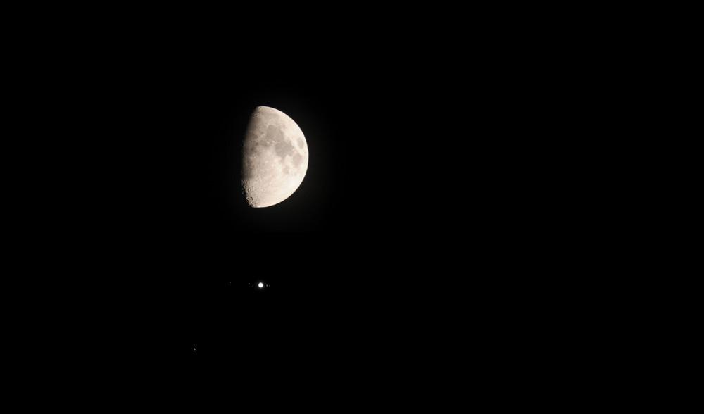 Alignement Lune, Jupiter 27 octobre