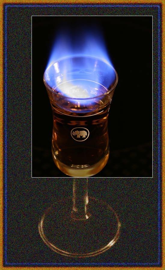 Alkohol in Flammen