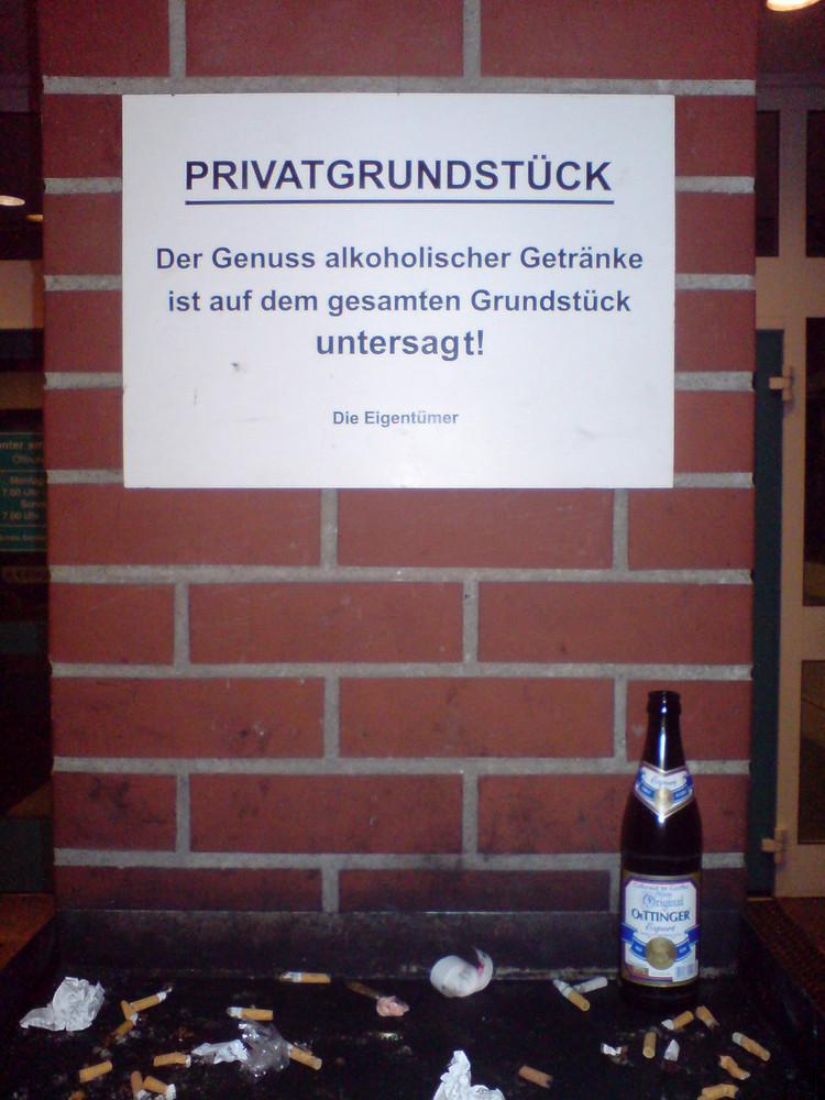 alkohol verboten!