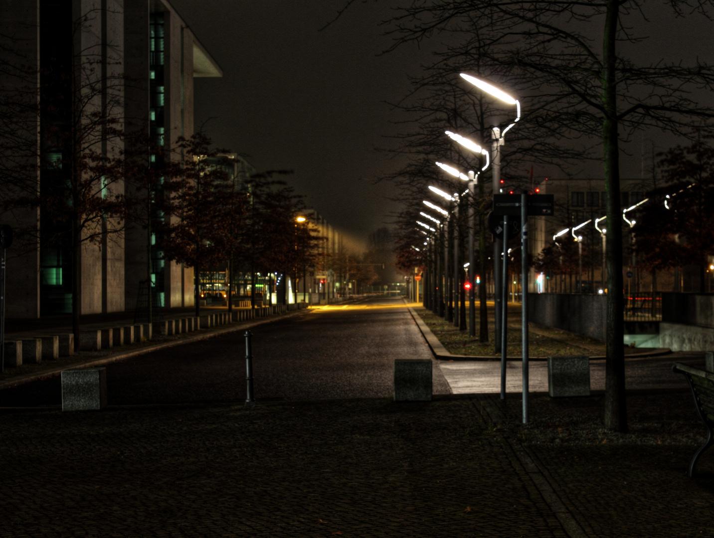 Allee der Volksvertreter bei Nacht ...