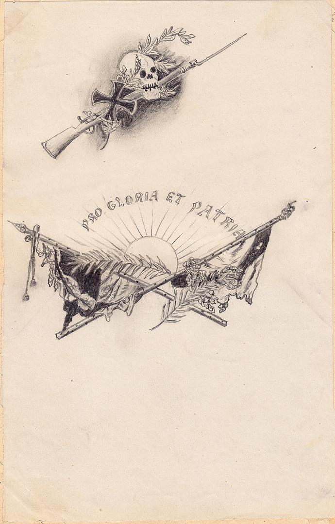 """Allegorie """"Für Ruhm und Vaterland"""""""