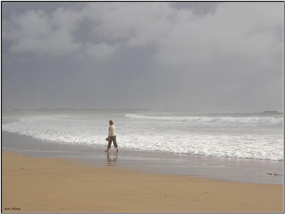 Allein am Meer