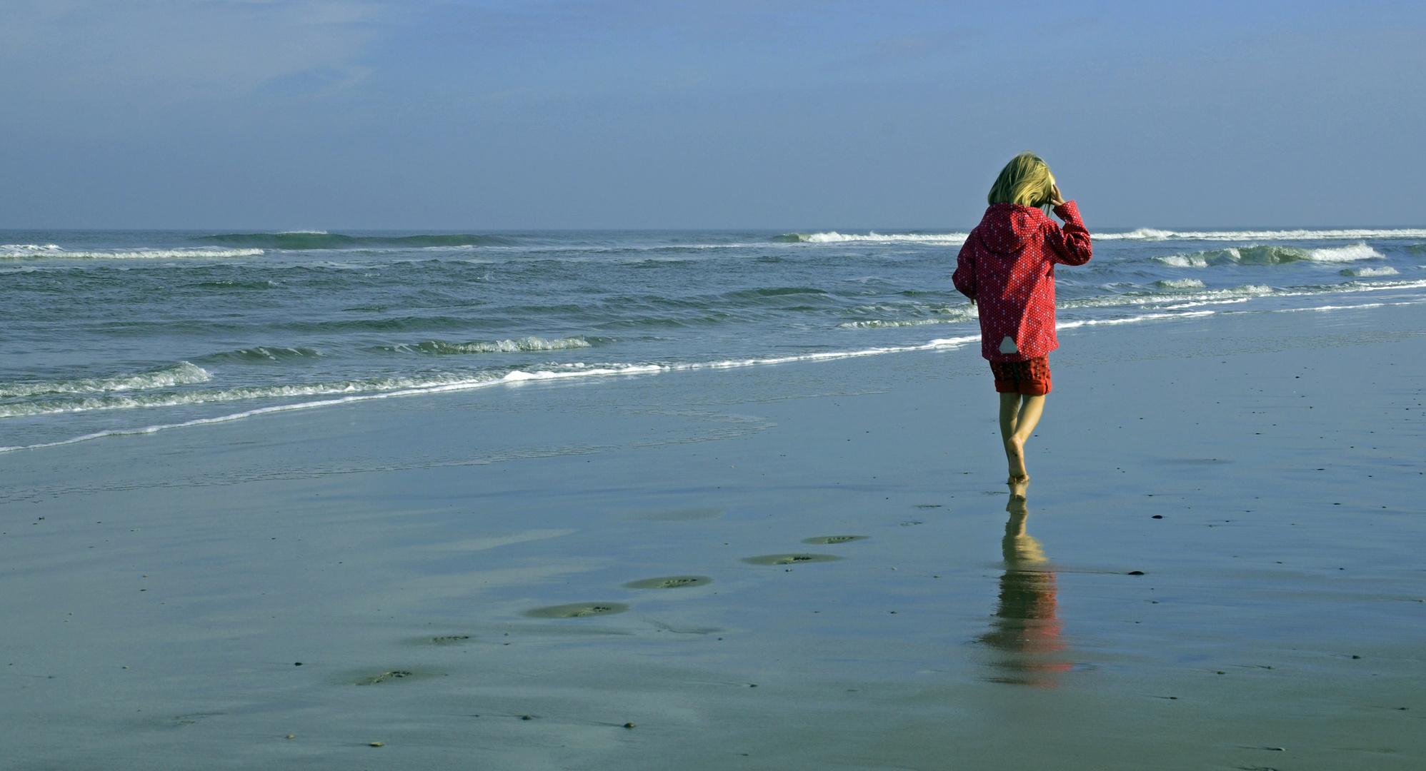 .. allein am Strand ..