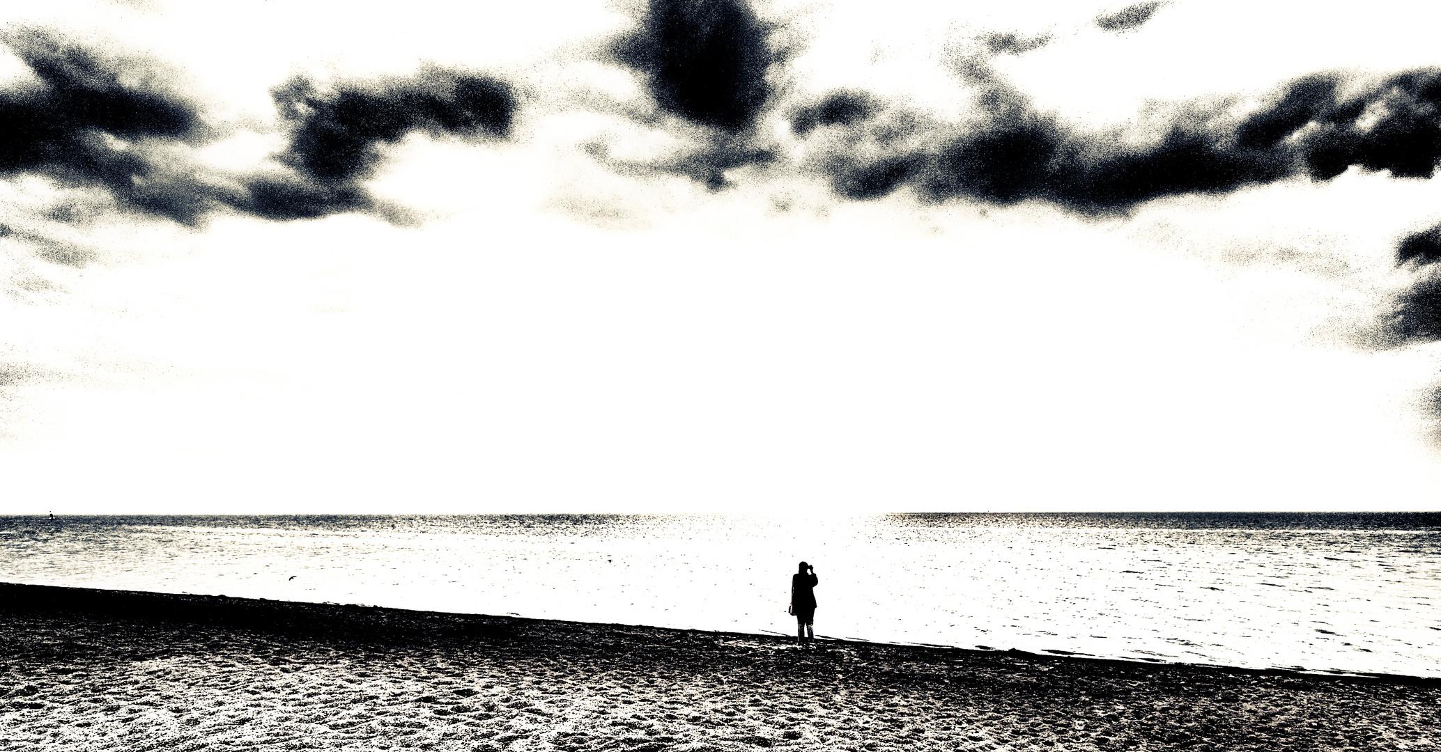 allein am strand ...