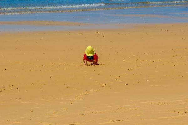 Allein am Strand............