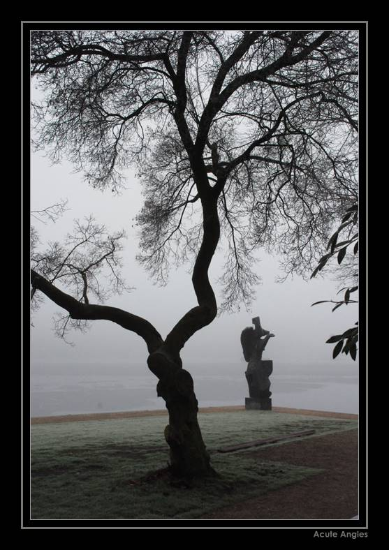 Allein im Nebel
