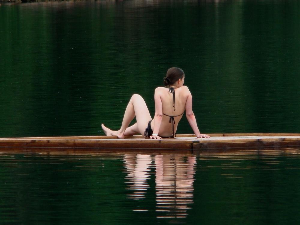 allein im See