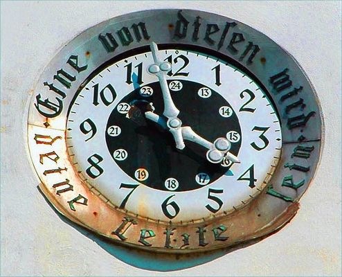 Alles hat seine Zeit . . .: