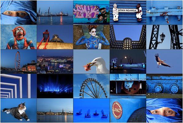 Alles in blau...